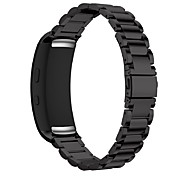 abordables -Bracelet de Montre  pour Gear Fit 2 Samsung Galaxy Bracelet Sport Acier Inoxydable Sangle de Poignet