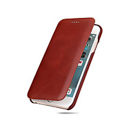cheap -For iPhone X iPhone 8 iPhone 8 Plus iPhone 7 iPhone 7 Plus iPhone 6 Case Cover Ultra-thin Full Body Case Solid Color Hard Genuine Leather