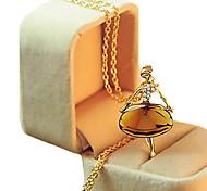 Недорогие -Жен. Цветы Стразы Ожерелья с подвесками Y-ожерелья  -  Светло-коричневый Ожерелье Назначение Свадьба Для вечеринок Вечеринка / ужин