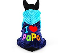 cheap -Dog Jumpsuit Dog Clothes Letter & Number Rose Blue Corduroy Costume For Pets Men's Women's Cute Keep Warm Fashion