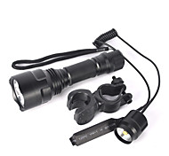 LED Flashlights / Torch Bike Lights LED 5000 lm 1 Mode Cree XM-L T6 Nonslip grip Small Size Super Light Zoomable for
