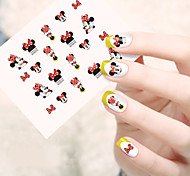 1pcs  Water Transfer Nail Art Stickers  Lovely Cartoon Expression Mickey Nail Art Design STZ61-65