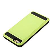 Недорогие -Для Кейс для iPhone 6 / Кейс для iPhone 6 Plus Бумажник для карт Кейс для Задняя крышка Кейс для Один цвет Твердый PCiPhone 6s Plus/6