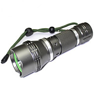 LED Flashlights / Torch LED 1200 lm 5 Mode LED Adjustable Focus Waterproof Compact Size Super Light High Power Zoomable for