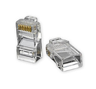 abordables -RJ45 8 pines ABS Modular Plug Connector Transparente 50 PCS