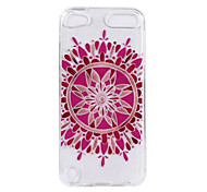 cheap -Case For iTouch 5/6 Transparent Pattern Back Cover TPU Soft