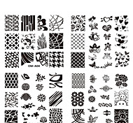 10pcs New Square Nail Art Stamping Plates Fashion Design Nail Stamp Stamper Stencil DIY Polish Mould Manicure Tools