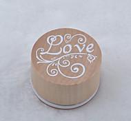 Circular Wooden Seal(Love)