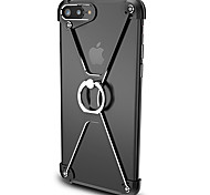 Pour Anneau de Maintien Coque Antichoc Coque Couleur Pleine Dur Aluminium pour Apple iPhone 7 Plus / iPhone 7