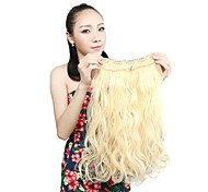 Недорогие -Ткань Наращивание волос Волнистый Классика На клипсе Повседневные Высокое качество