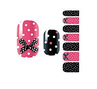 Недорогие -yemannvyou®14pcs моды бантом&место для ногтей искусство блеск стикер b1030