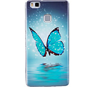 For Case Cover Glow in the Dark IMD Pattern Back Cover Case Butterfly Soft TPU for Huawei Huawei P9 Lite Huawei P8 Lite
