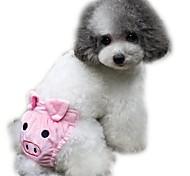 Gatti Cani Pantalone Abbigliamento per cani Inverno Estate Primavera/Autunno Cartoni animati Divertente Giallo Caffè Rosa