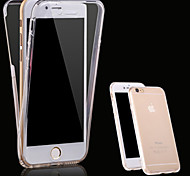 cheap -Case For Apple iPhone X iPhone 8 iPhone 5 Case iPhone 6 iPhone 6 Plus iPhone 7 Plus iPhone 7 Transparent Full Body Cases Solid Color Soft