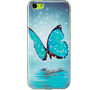 cheap -Case For Apple iPhone 5 Case iPhone 6 iPhone 7 Glow in the Dark IMD Back Cover Butterfly Soft TPU for iPhone 7 Plus iPhone 7 iPhone 6s