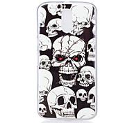For Motorola MOTO G4 Case Cover Skull Pattern Luminous TPU Material IMD Process Soft Phone Case