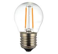 abordables -1 unids 2 w e14 b22 e26 / e27 led bulbos de filamento g45 2 leds cob regulable blanco cálido 150-200lm 2300-2700k ac 110v ac22v