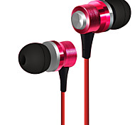 HUAST HST-43 Stereo HeadPhone In Ear Earphone Metal Handsfree Headset with Mic 3.5mm Earbuds For All Phone MP3 Player