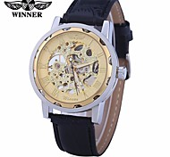 Men's Sport Watch Dress Watch Fashion Watch Mechanical Watch Automatic self-winding Calendar Large Dial Genuine Leather Band Vintage