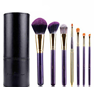 cheap -7 Makeup Brush Set Synthetic Hair Limits Bacteria Hypoallergenic Eye Face Lip