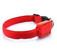 Perro Cuello Electrónico/Eléctrico Un Color Naranja Fucsia Rojo Verde Azul