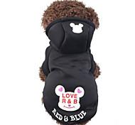 Кошка Собака Толстовки Одежда для собак Очаровательный На каждый день Носки детские Черный Синий Розовый