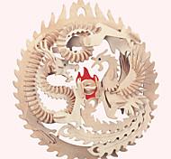 Пазлы Деревянные пазлы Строительные блоки DIY игрушки Знаменитое здание Китайская архитектура Лошадь 1 Дерево Со стразамиМодели и