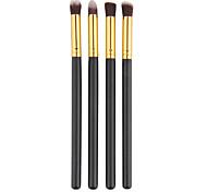 Pro MakeUp Cosmetic Eye Brushes Set Eyeshadow Brush Eye Brow Tools Black(4PCS)