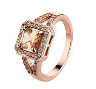 Women's Ring AAA Cubic Zirconia Simple Style Fashion Costume Jewelry Rose Gold Zircon Cubic Zirconia Alloy Jewelry For Casual