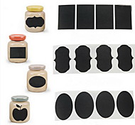 cheap -36Pcs Chalk Pen Chalkboard Sticker Labels Vinyl Kitchen Jar Decor Decals 5CM X 3.5CM