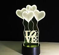 Недорогие -3d визуальная лампа оптическая иллюзия красочные светодиодные настольные лампы коснуться романтический праздник свет ночи baymax любви