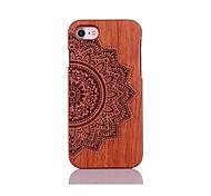 abordables -Funda Para Apple Funda iPhone 5 iPhone 6 iPhone 7 Antigolpes Diseños En Relieve Funda Trasera Mandala Dura De madera para iPhone 7 Plus