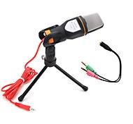 2017 новый полезный горячий проводной высококачественный стереофонический микрофон конденсатора с держателем зажима для караоке в чате
