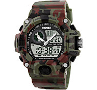 cheap -Men's Digital Watch / Wrist Watch / Military Watch Alarm / Calendar / date / day / Water Resistant / Water Proof Rubber Band Camouflage