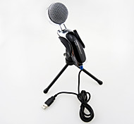 cheap -2017 New USB Useful hot wired high quality stereo condenser microphone with holder clip for chatting karaoke portable PC