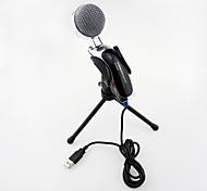 2017 новый USB полезный горячий проводной высококачественный стереофонический микрофон конденсатора с держателем зажима для караоке в чате