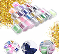 1PC Sequins People Who Fish Meal  Olden Onion Powder 10g Bottled 24 Color Optional
