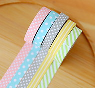 Cute Decorative Paper Tape Set Of 5 For School / Office DIY Decoration