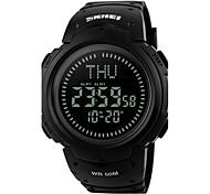 Men's Sport Watch Wrist watch Digital Watch Digital LED LCD Compass Calendar Water Resistant / Water Proof Alarm Stopwatch Rubber Band