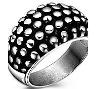 Кольца Для вечеринок Halloween Повседневные Бижутерия Титановая сталь Мужчины Кольцо Массивные кольца 1шт,7 8 9 10 Как на фотографии