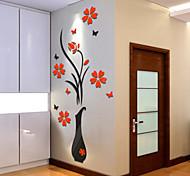 Недорогие -ботанический Наклейки 3D наклейки Декоративные наклейки на стены,Винил Украшение дома Наклейка на стену Стена