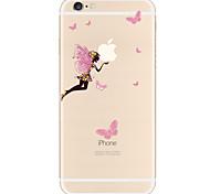 Недорогие -Кейс для Назначение Apple iPhone X iPhone 8 Plus iPhone 7 iPhone 6 Кейс для iPhone 5 С узором Задняя крышка Соблазнительная девушка Мягкий