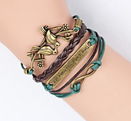 cheap -Leather Bracelet Fashion Infinity Bracelet Peace Dove Tree of Life Friendship Bracelet Wrap bracelet jewelry Gifts
