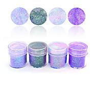 1 Box 10ml Purple Pink Colorful Mixed Nail Glitter Holographic Glitters Powder Sheets Tips Nail Art Decoration