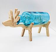 youoklight творческий ручной работы стеклянная бутылка древесины олень ночь светло- желтый / красный / синий