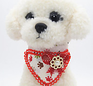 Dog Collar Adjustable / Retractable Hands free Bowknot Fabric Rainbow