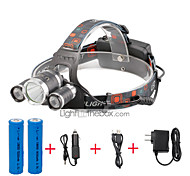 U'King Headlamps Headlight LED 4000 lm 4 Mode Cree XP-G R5 Cree XM-L T6 with Batteries and Chargers Compact Size Easy Carrying