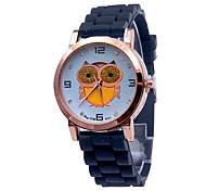 Жен. Модные часы Кварцевый силиконовый Группа С подвескамиЧерный Белый Синий Красный Оранжевый Коричневый Зеленый Розовый Желтый