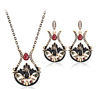 Jewelry Set Luxury Vintage Bohemian Party Special Occasion Synthetic Gemstones Resin Rhinestone Gold Plated Imitation Diamond Alloy Others
