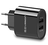 UGREEN®  5V2.4A/1A Portable Charger For iPad For Cellphone For Tablet For iPhone For Smart Watch 2 USB Ports EU Plug